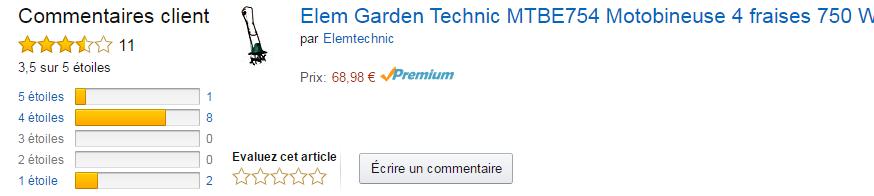 motobineuse elem garden technic mtbe754 avis